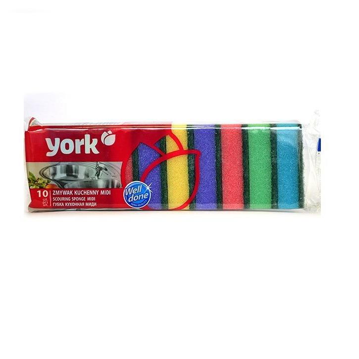 Набор кухонных губок York Миди 10 шт
