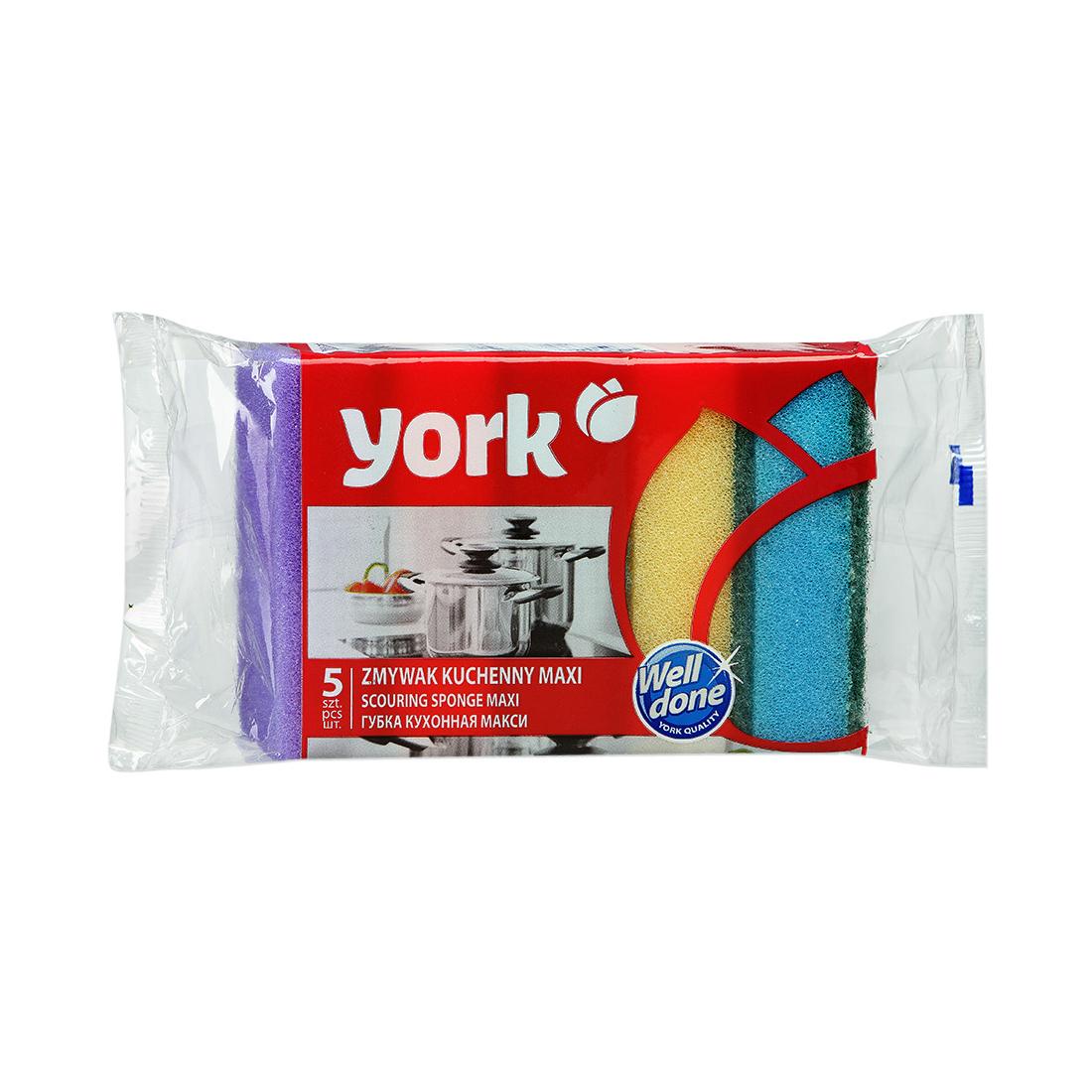 Набор кухонных губок York Макси 5 шт