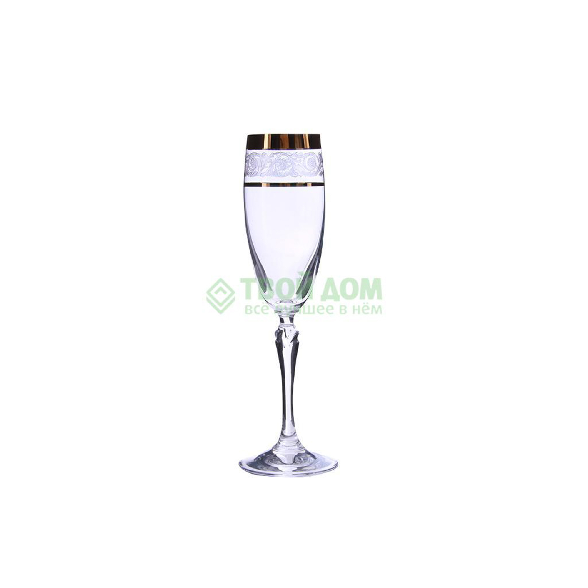 rona Набор фужеров Rona Золотая коллекция для шампанского 160 мл 6 шт