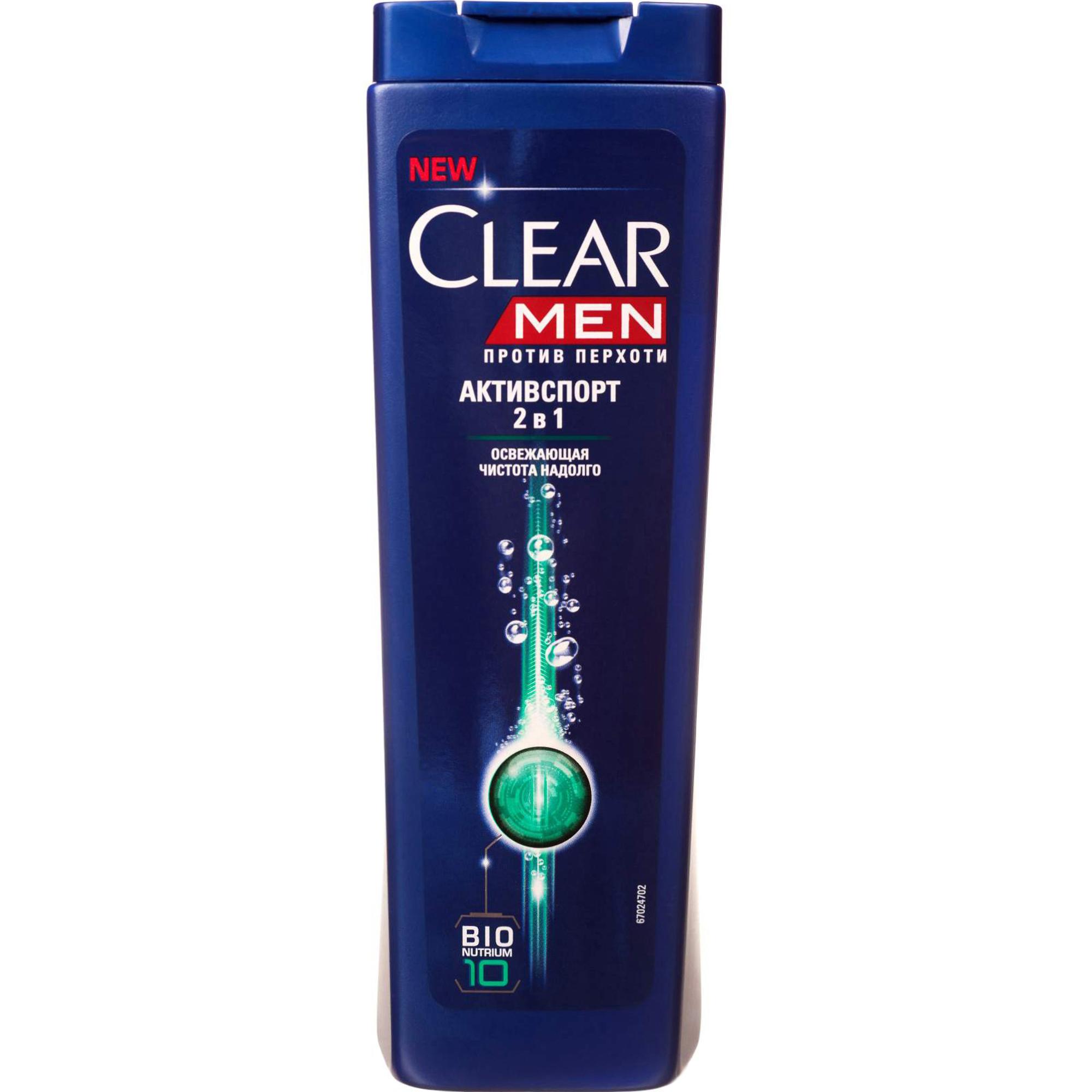 Шампунь и бальзам-ополаскиватель Clear Men Активспорт 2 в 1 Против перхоти 400 мл clear шампунь для мужчин 2 в 1