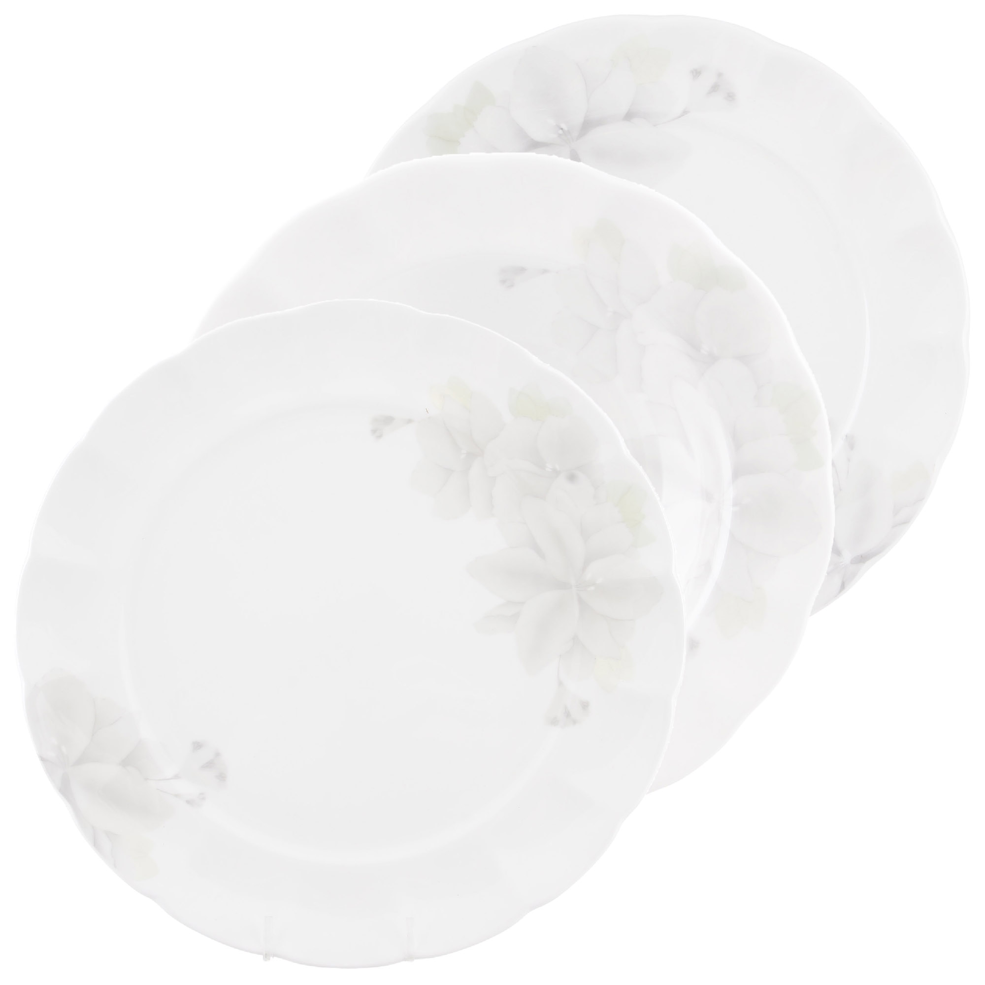 Набор тарелок Hatori грэй 18 предметов 6 персон фото