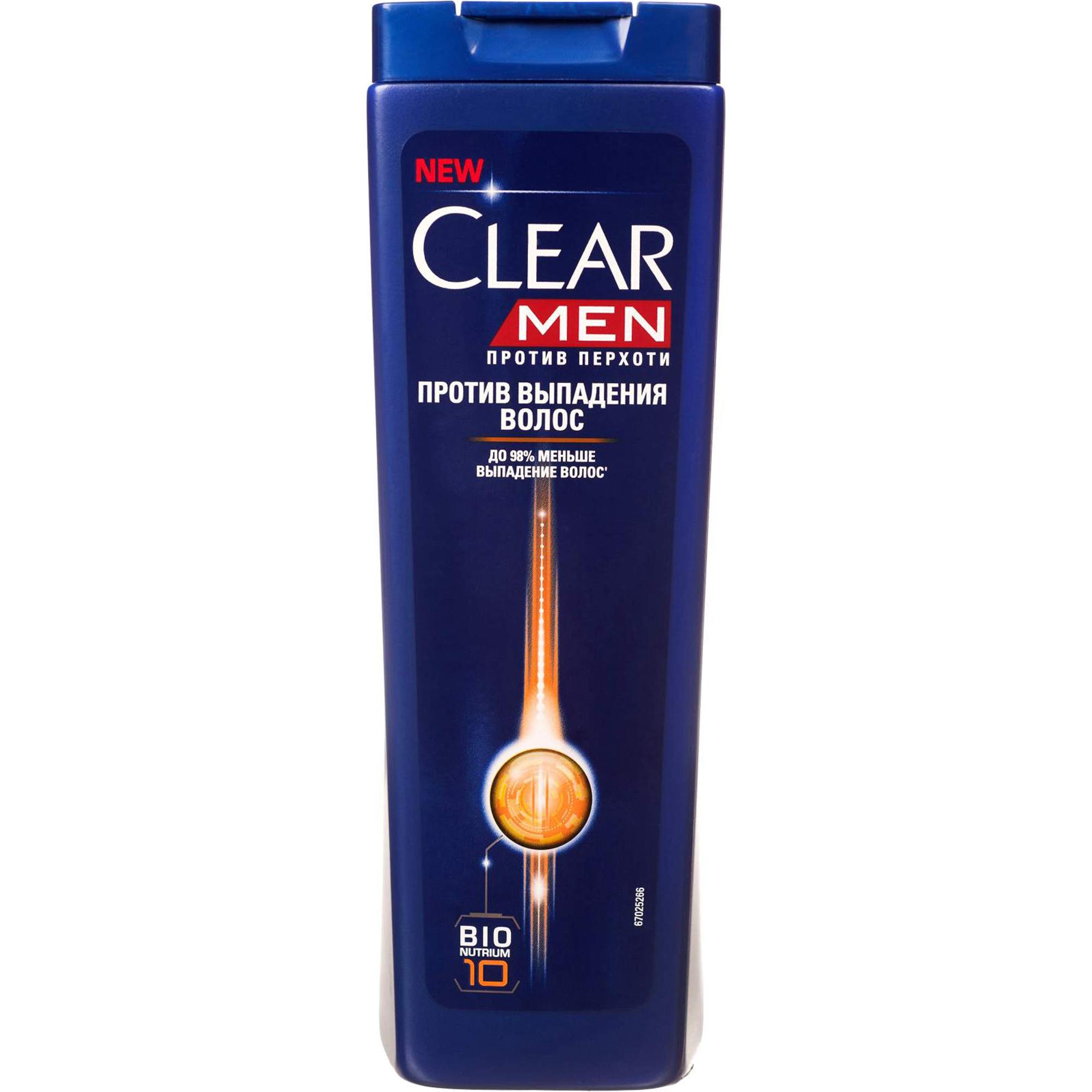 Шампунь Clear Men Против перхоти Против выпадения волос 400 мл ducray неоптид лосьон от выпадения волос для мужчин 100 мл
