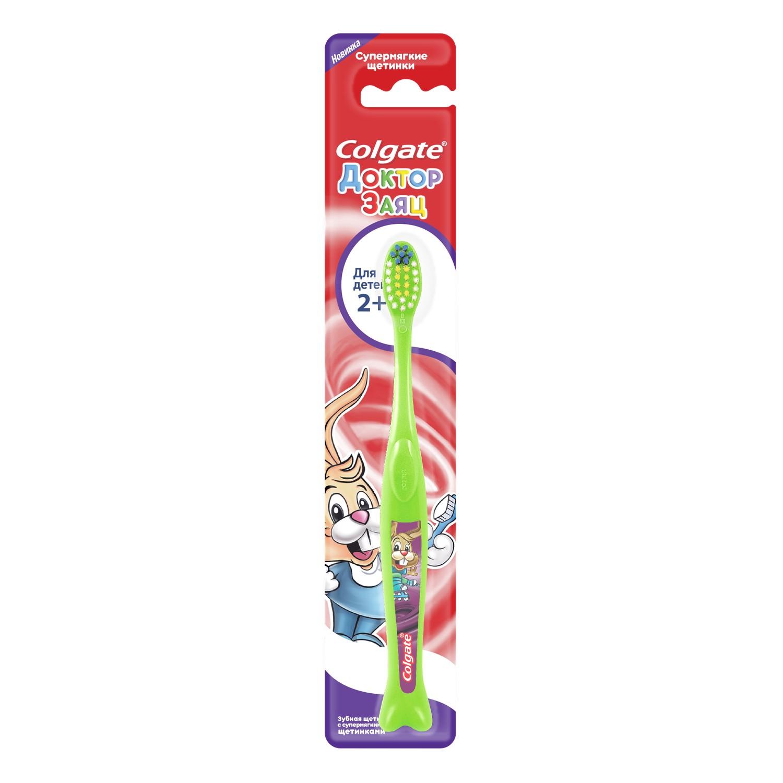 Зубная щетка Colgate Доктор Заяц 2+ colgate зубная щётка для детей от 2 до 5 лет spiderman colgate синий зеленый
