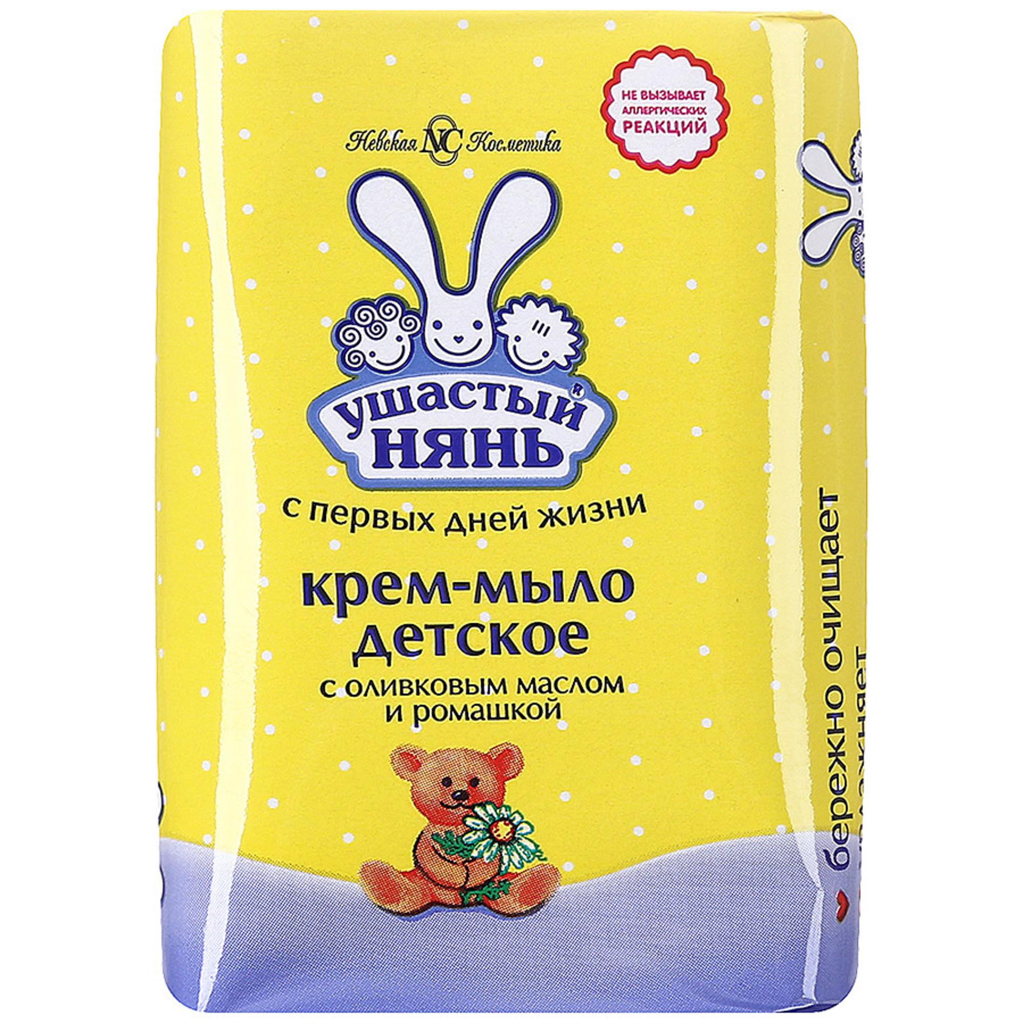 Крем-мыло Ушастый Нянь С оливковым маслом и ромашкой 90 г