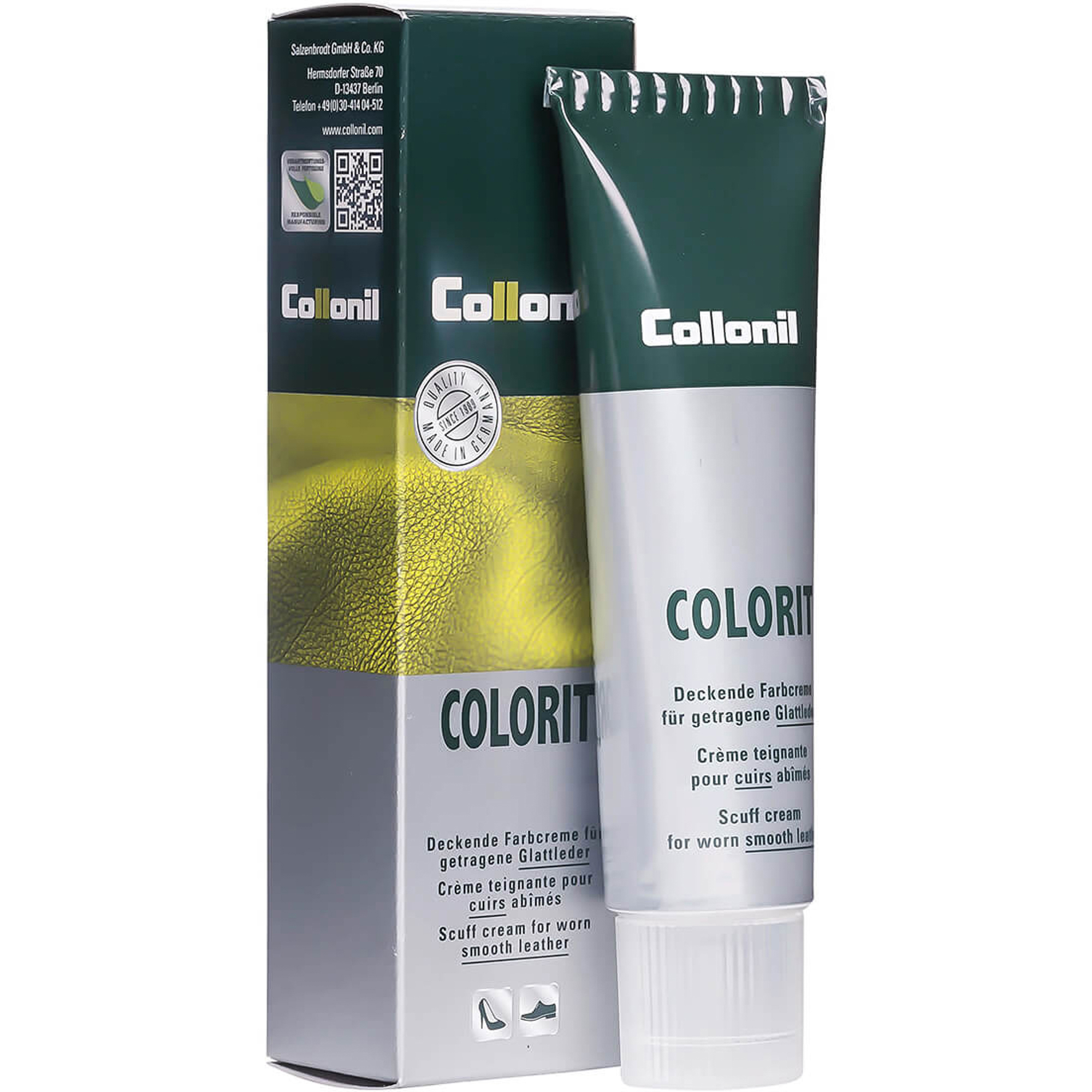 Крем Collonil Colorit белый 75 мл крем collonil colorit tube black