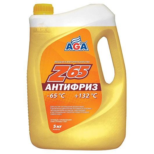 Антифриз готовый к применению -65с желтый 5л Эй-джи-эй автомаг