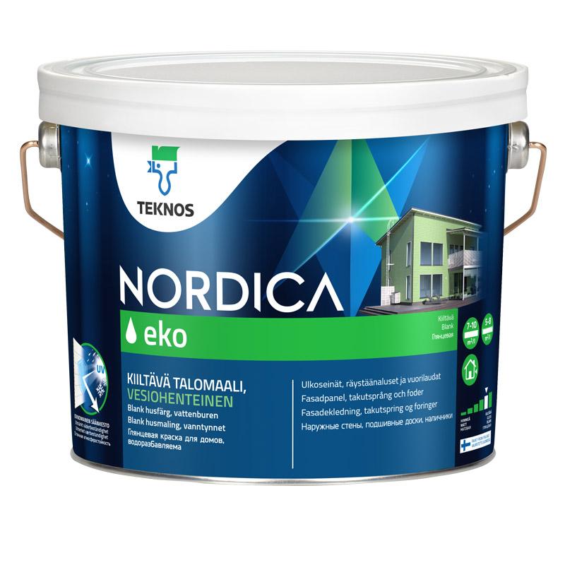 Краска Teknos Нордика эко РМ1 3/2.7л фото