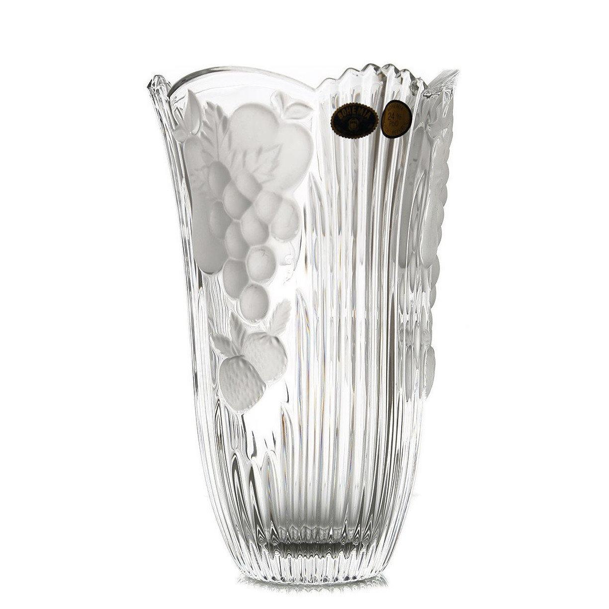 Ваза Crystal Bohemia Фрукты 15,5 см часы настольные crystal bohemia 21 5 см