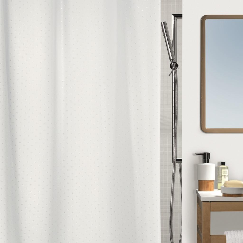 Штора для ванной Spirella Ricco 180х200 см белый штора для ванной joyarty слон и птица 180х200 sc 6079