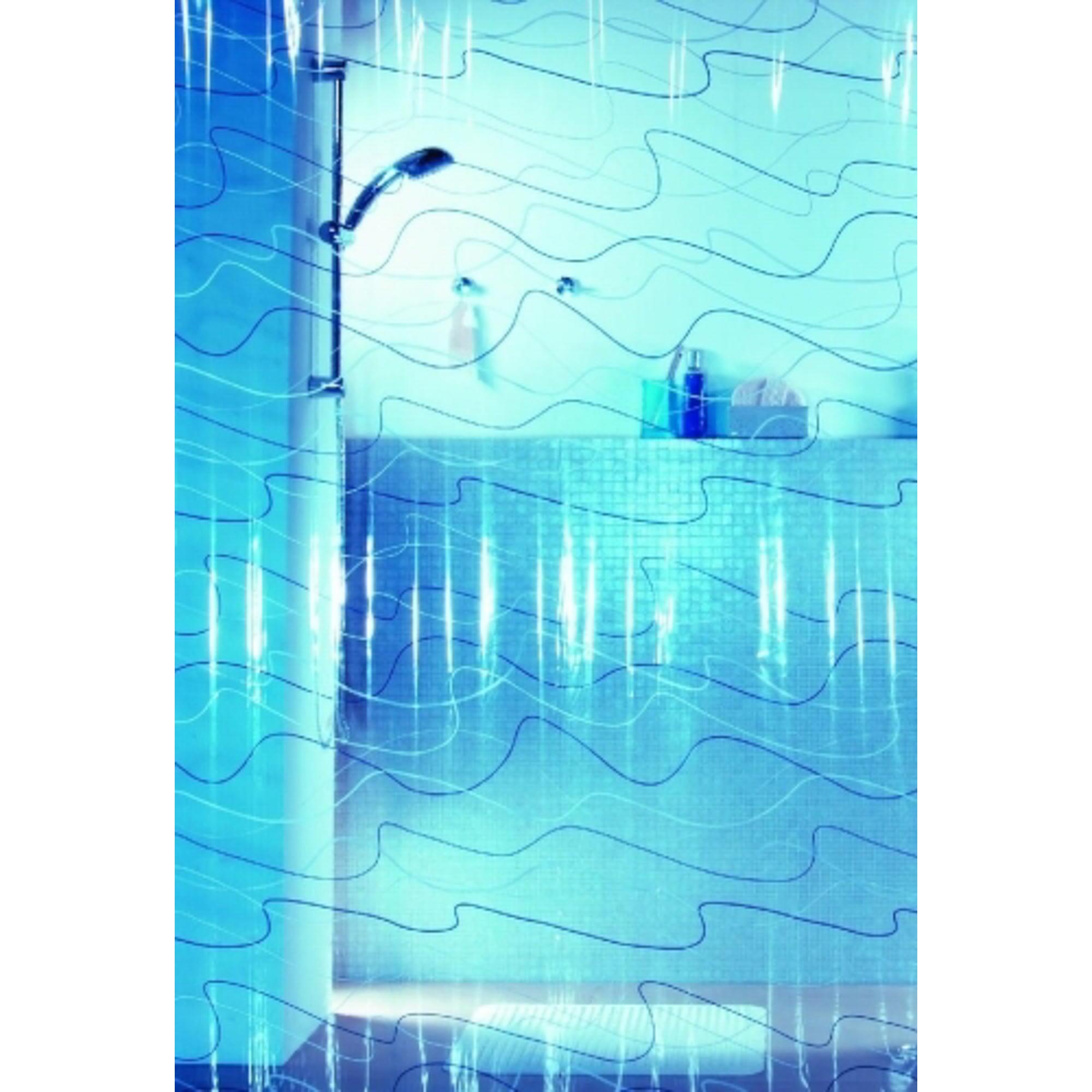 Штора для ванной Spirella Pool 180х200 см синий штора для ванной joyarty слон и птица 180х200 sc 6079