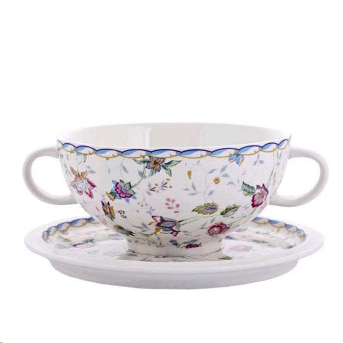 Чашка суповая на блюдце IMARI Букингем 500 мл