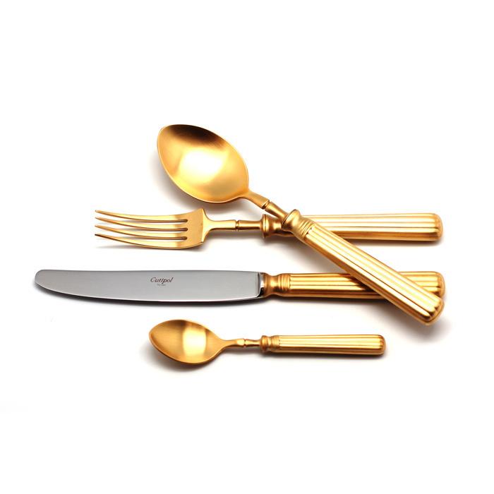 Столовый набор Cutipol LINE GOLD 9172 24 предмета матовый фото