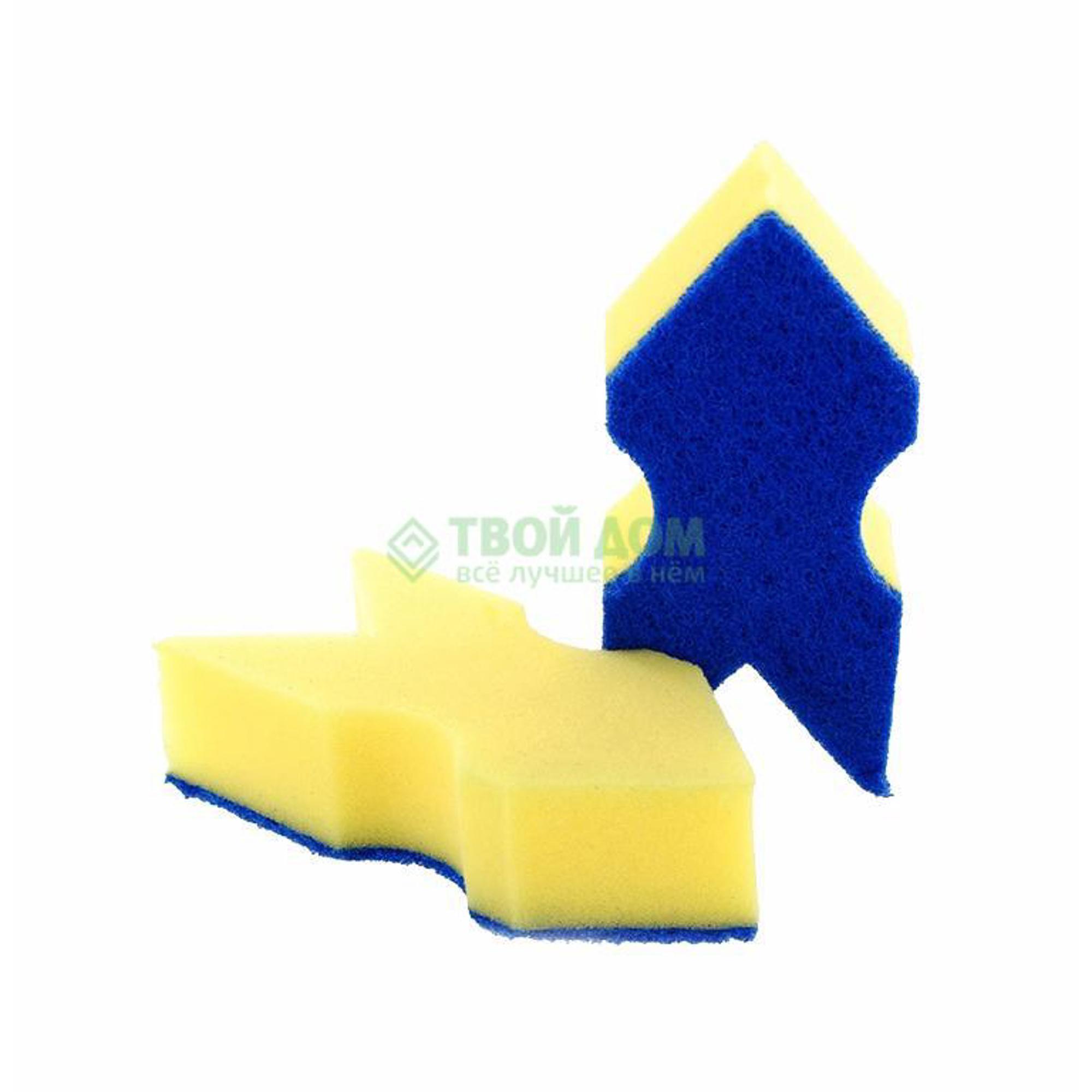 губка aqualine для мытья автомобиля Губка для посуды Aqualine 1052