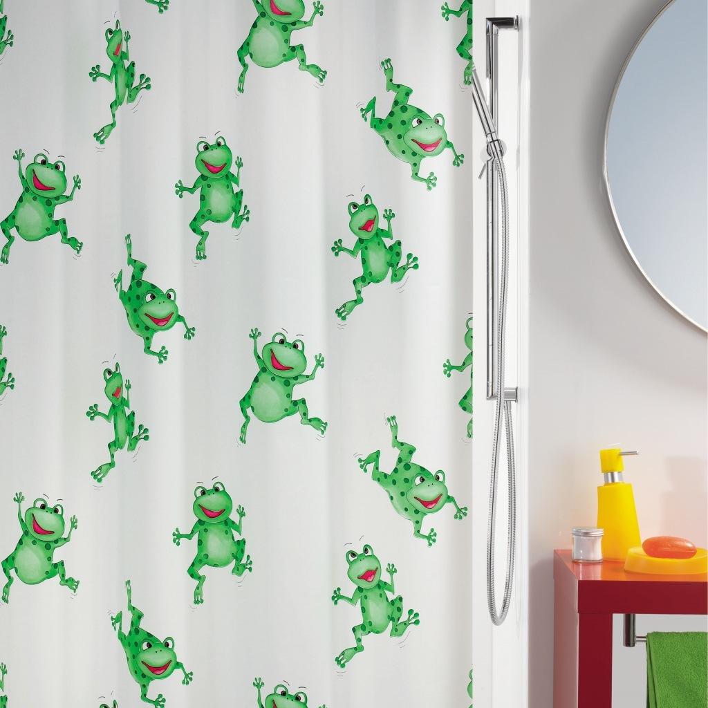 Штора для ванной Spirella Frogtime 180х200 см зеленый штора для ванной joyarty слон и птица 180х200 sc 6079