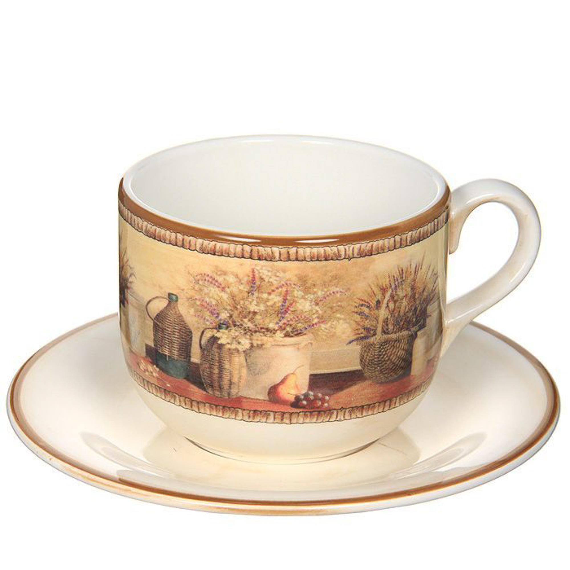 Чашка с блюдцем LCS Натюрморт 500 мл