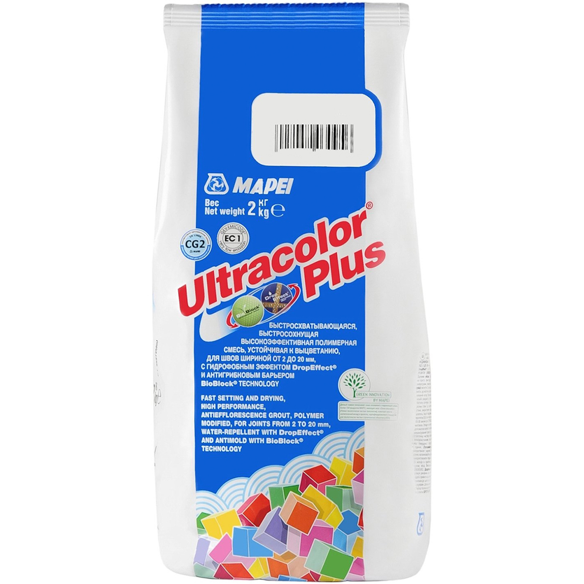 Затирка Mapei Ultracolor Plus №132 Беж 2000 2 кг
