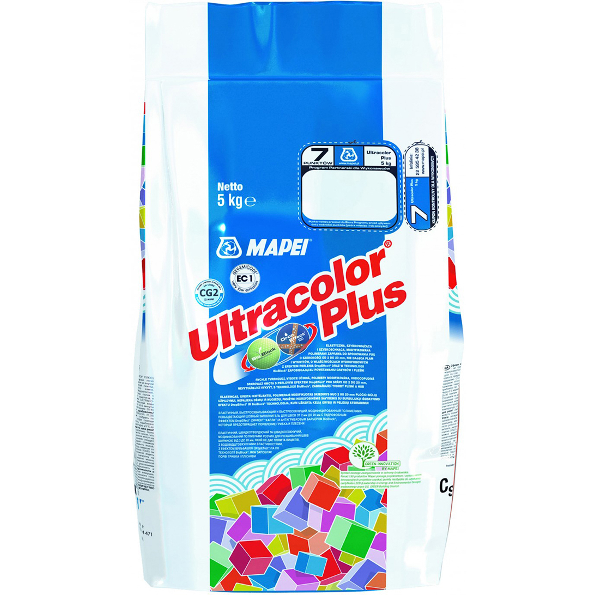 Затирка Mapei Ultracolor Plus №132 Беж 2000 5 кг