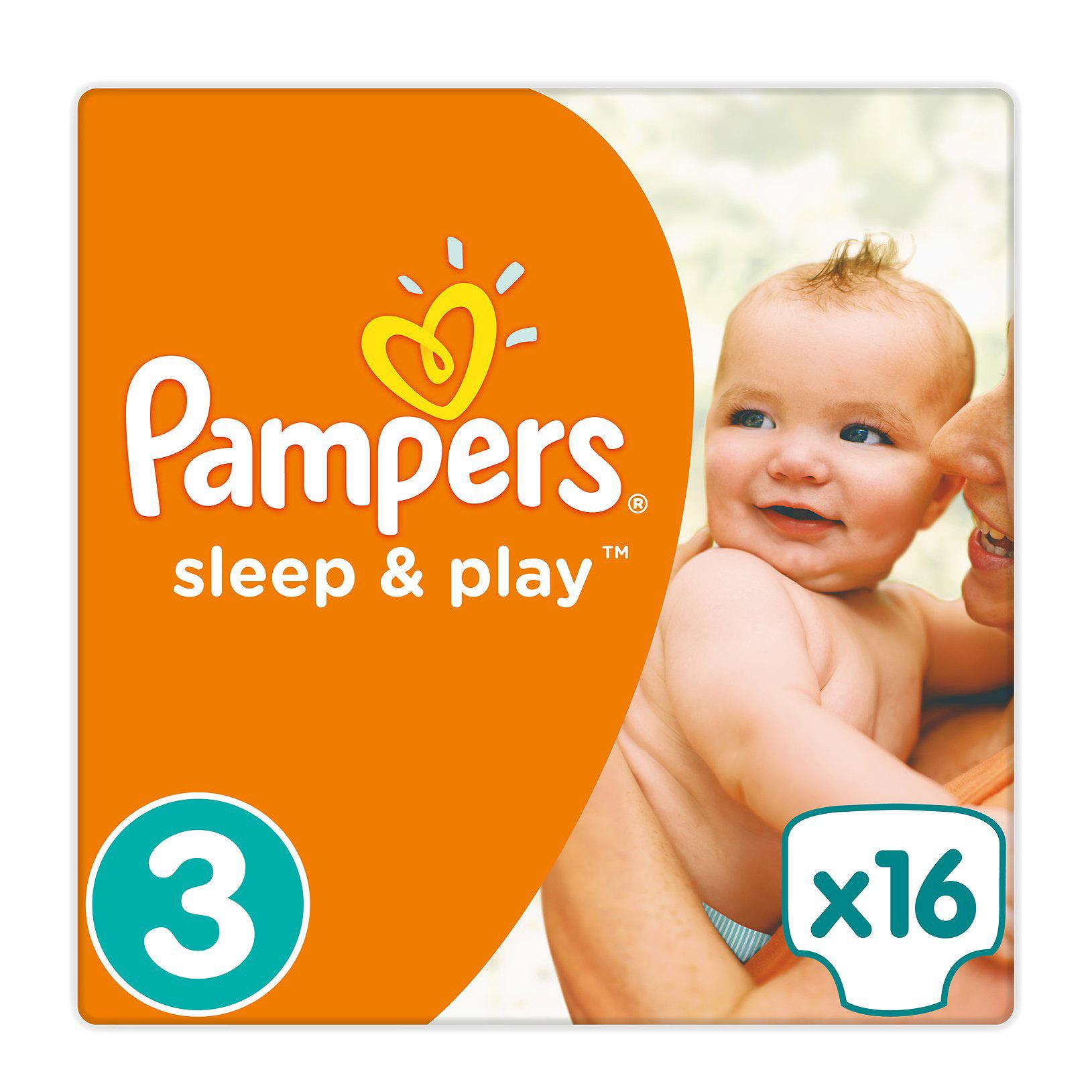 Купить Подгузники Pampers Sleep&Play 4-9 кг. 16 шт., Польша, Детские подгузники