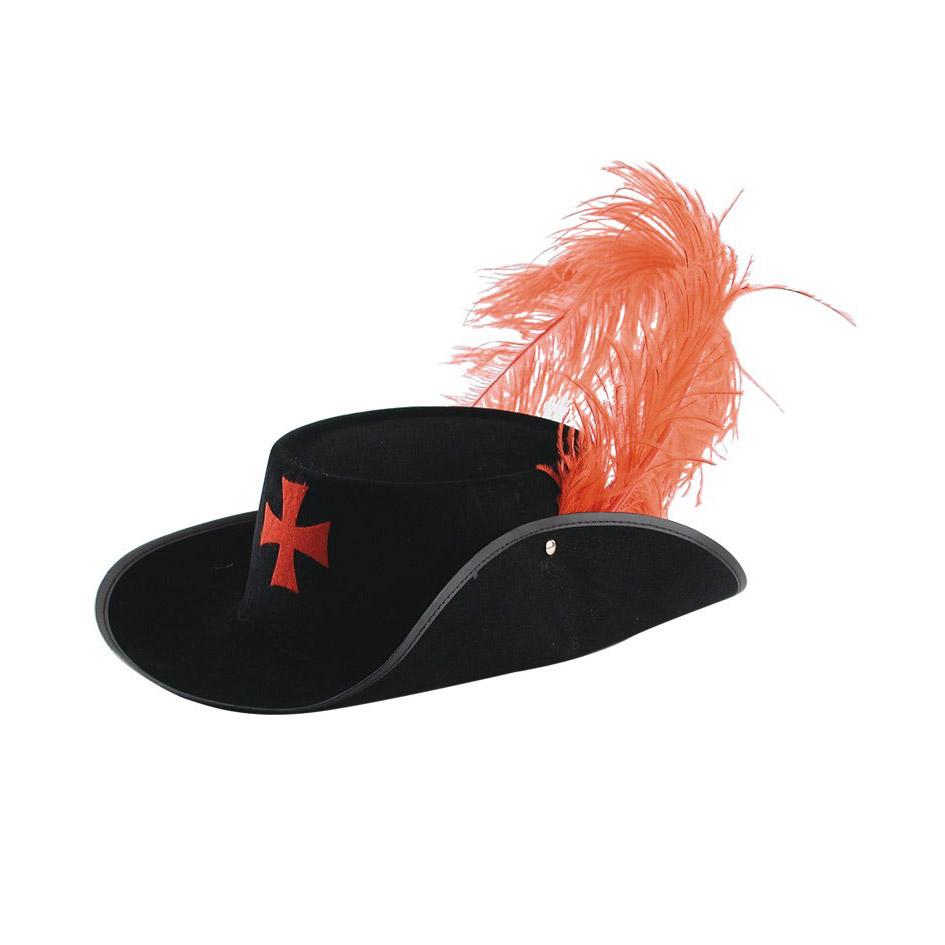 Шляпа Carnival Toys Д'Артаньян с пером черная