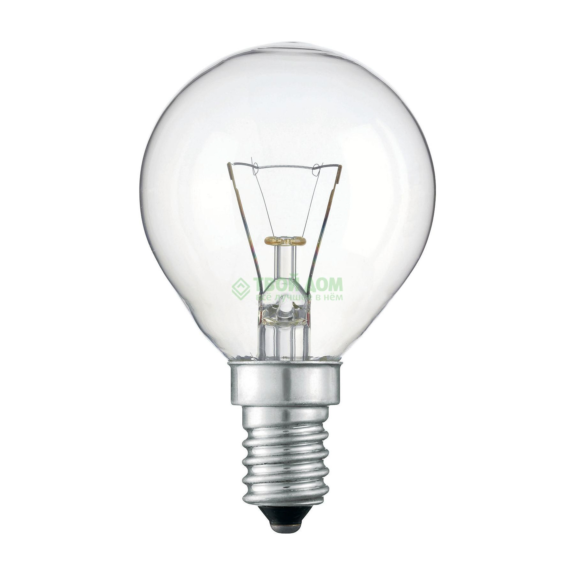 Лампочка PHILIPS LAMPS Standard 60W E14 230V P45 CL 1CT