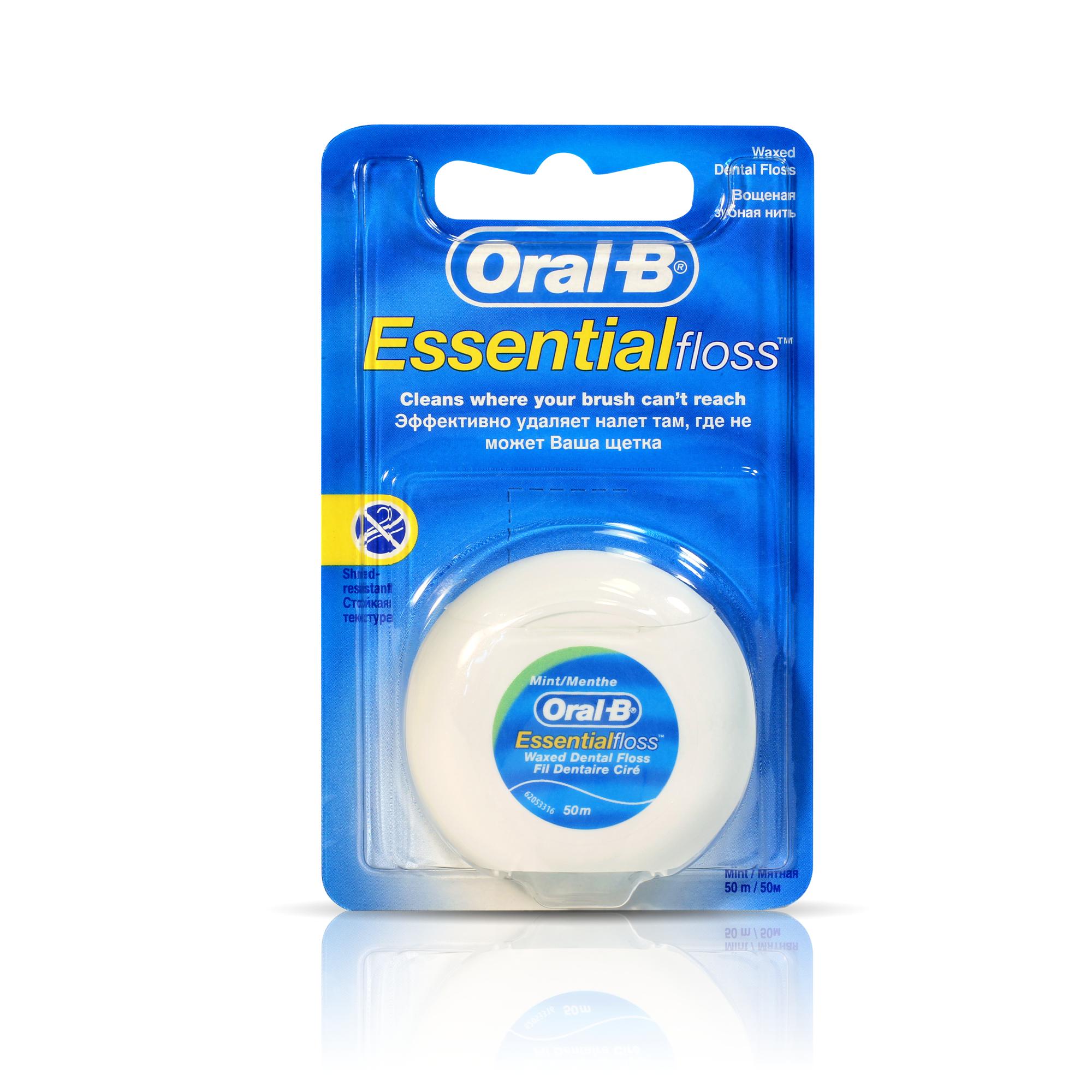 Фото - Зубная нить Oral-B Essential Мятная 50 м зубная нить oral b essential мятная 50m 3014260280772