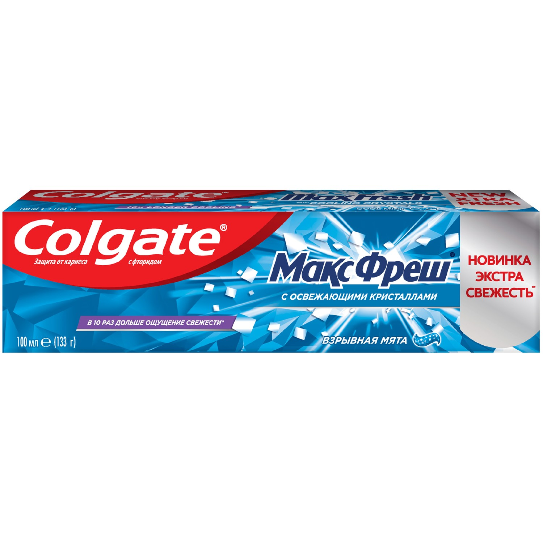Зубная паста освежающая Colgate Макс Фреш Взрывная Мята 100 мл