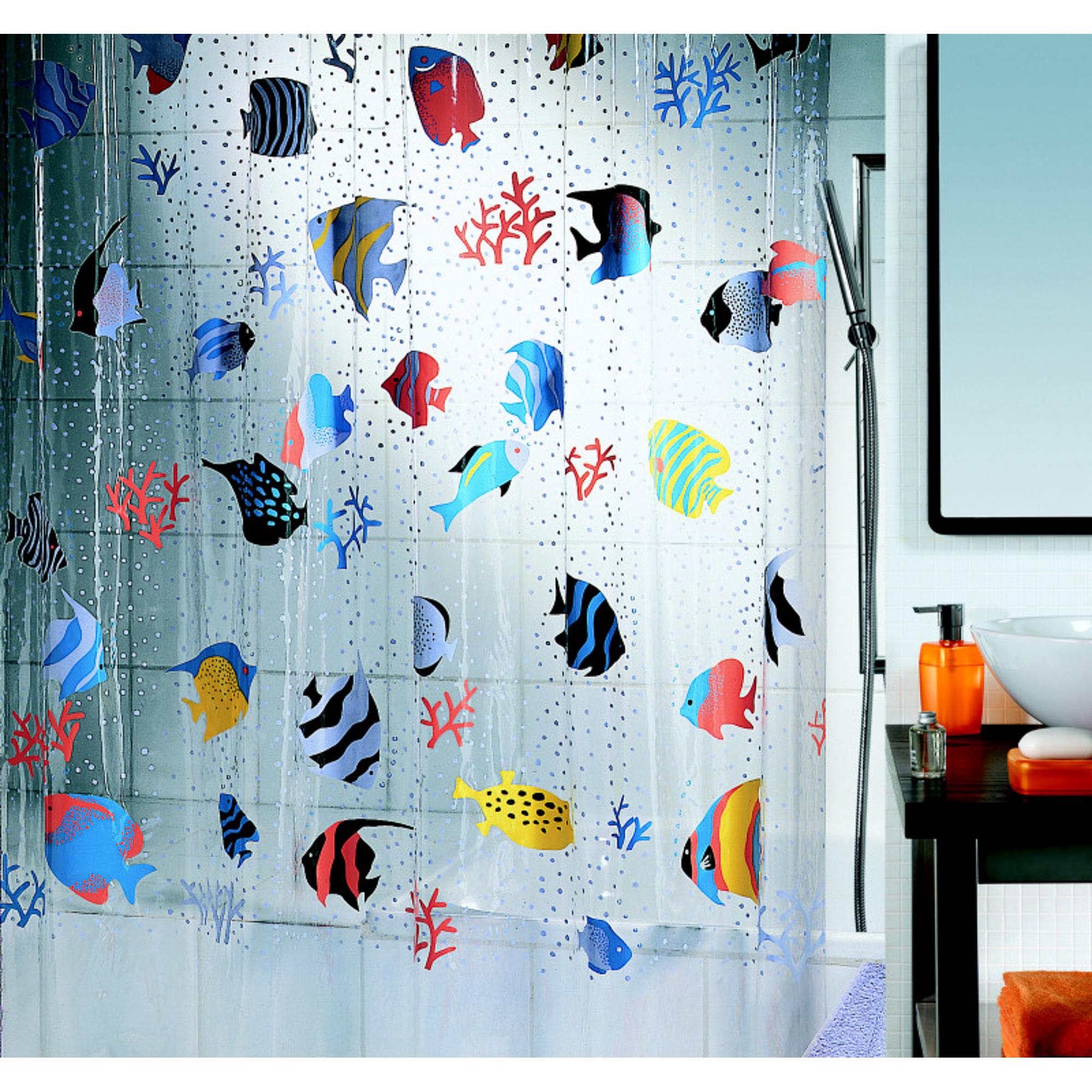 Штора для ванной Spirella Fish 180х200 см штора для ванной joyarty слон и птица 180х200 sc 6079