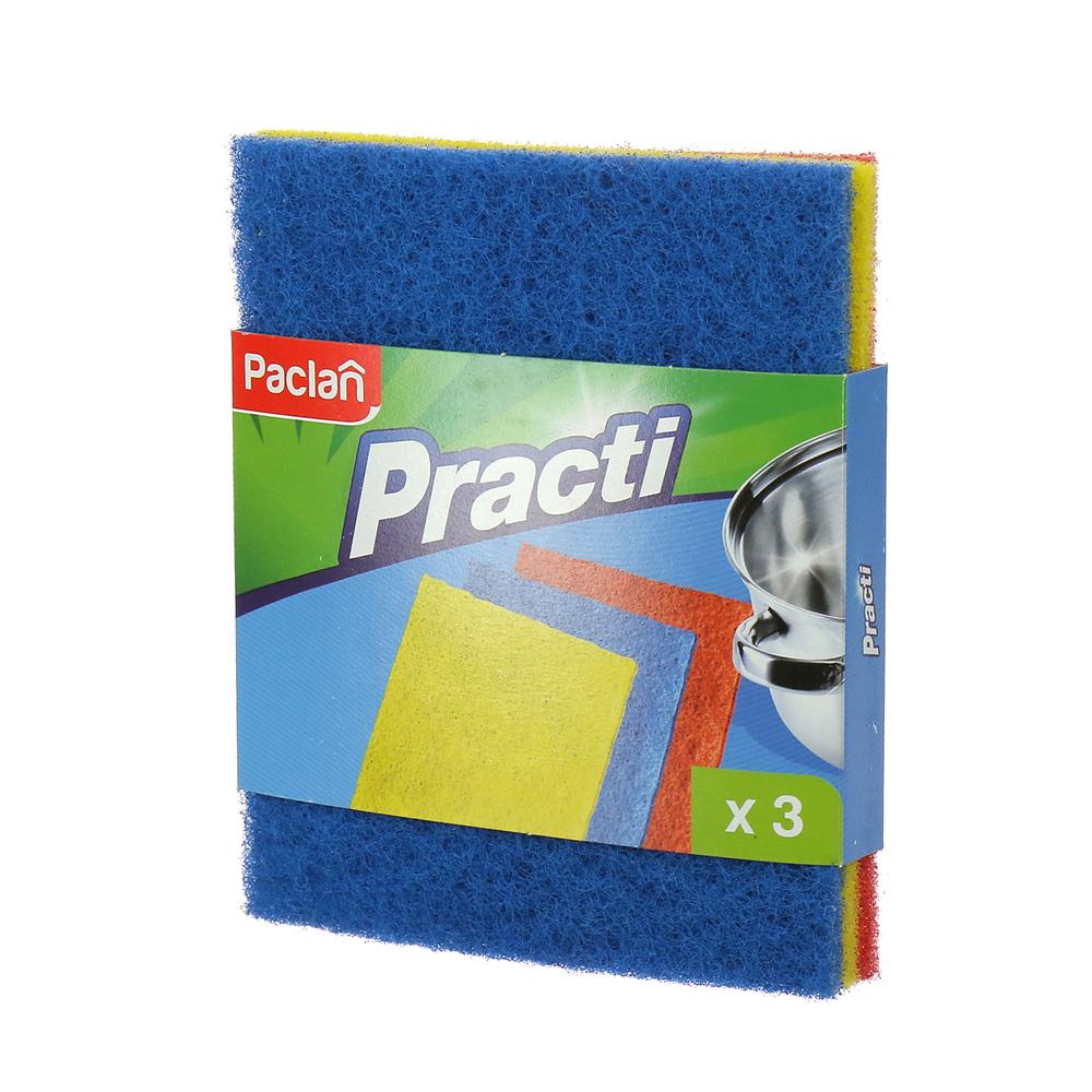 Мочалки Paclan Practi из игольчатого абразива 3 шт.