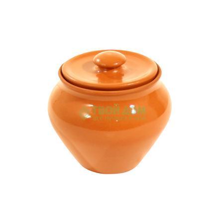 Купить Горшок Вятская керамика Горшок пищевой п/жаркое с крышкой 0.7л (ГП 07), Россия, коричневый