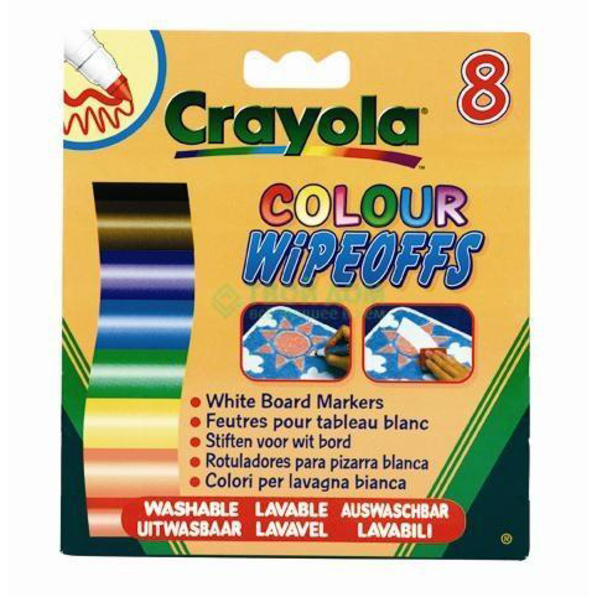 Crayola Фломастеры8 цветов радуги для белой доски (8223).