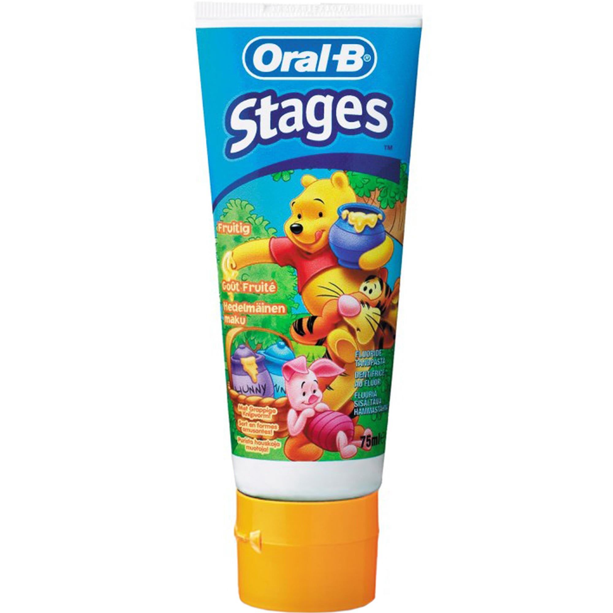 Зубная паста Oral-B Stages Винни 75 мл oral b зубная паста pro expert stages star wars ягодный взрыв berry bubble 75 мл