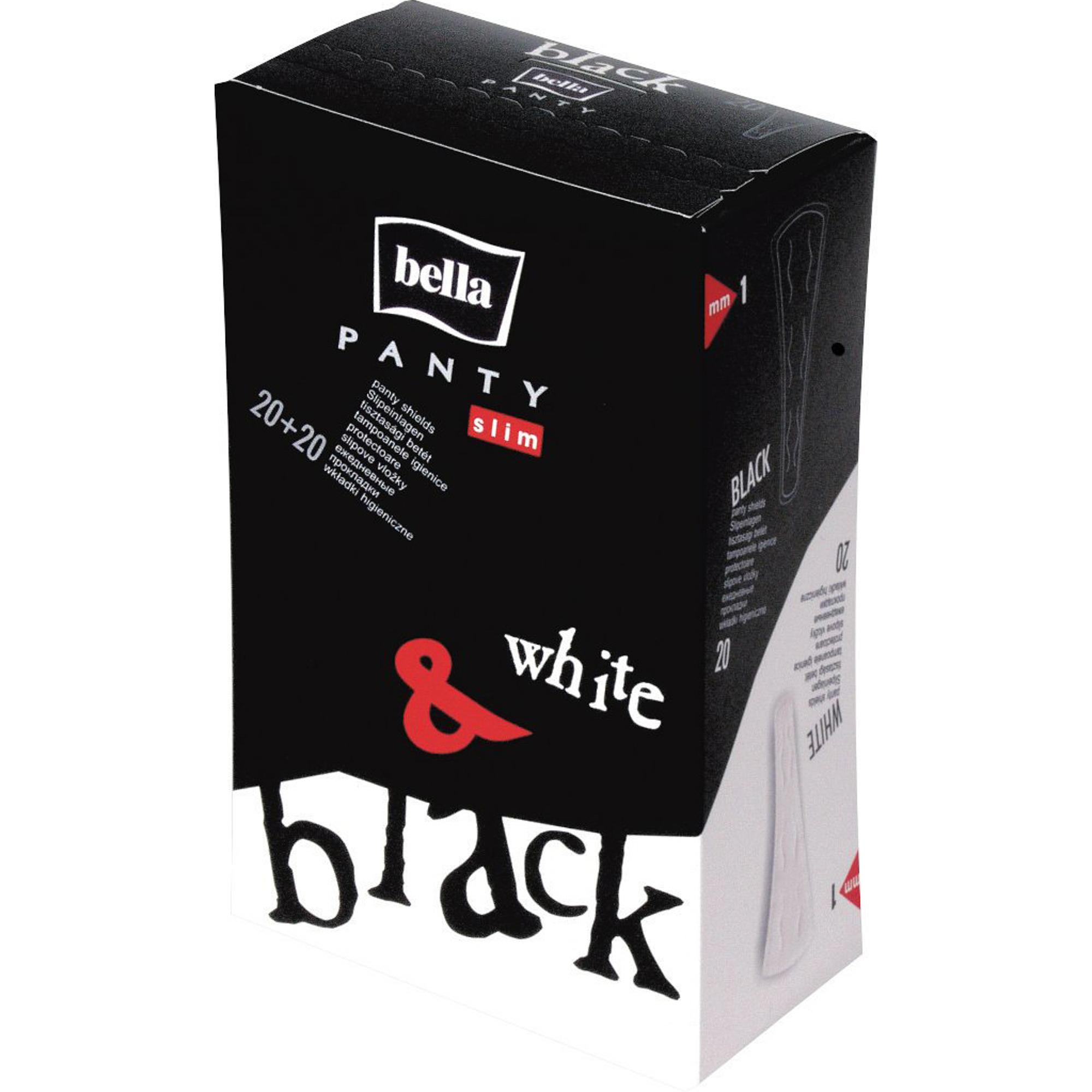 Прокладки Bella Panty Slim White  Black 40 шт.