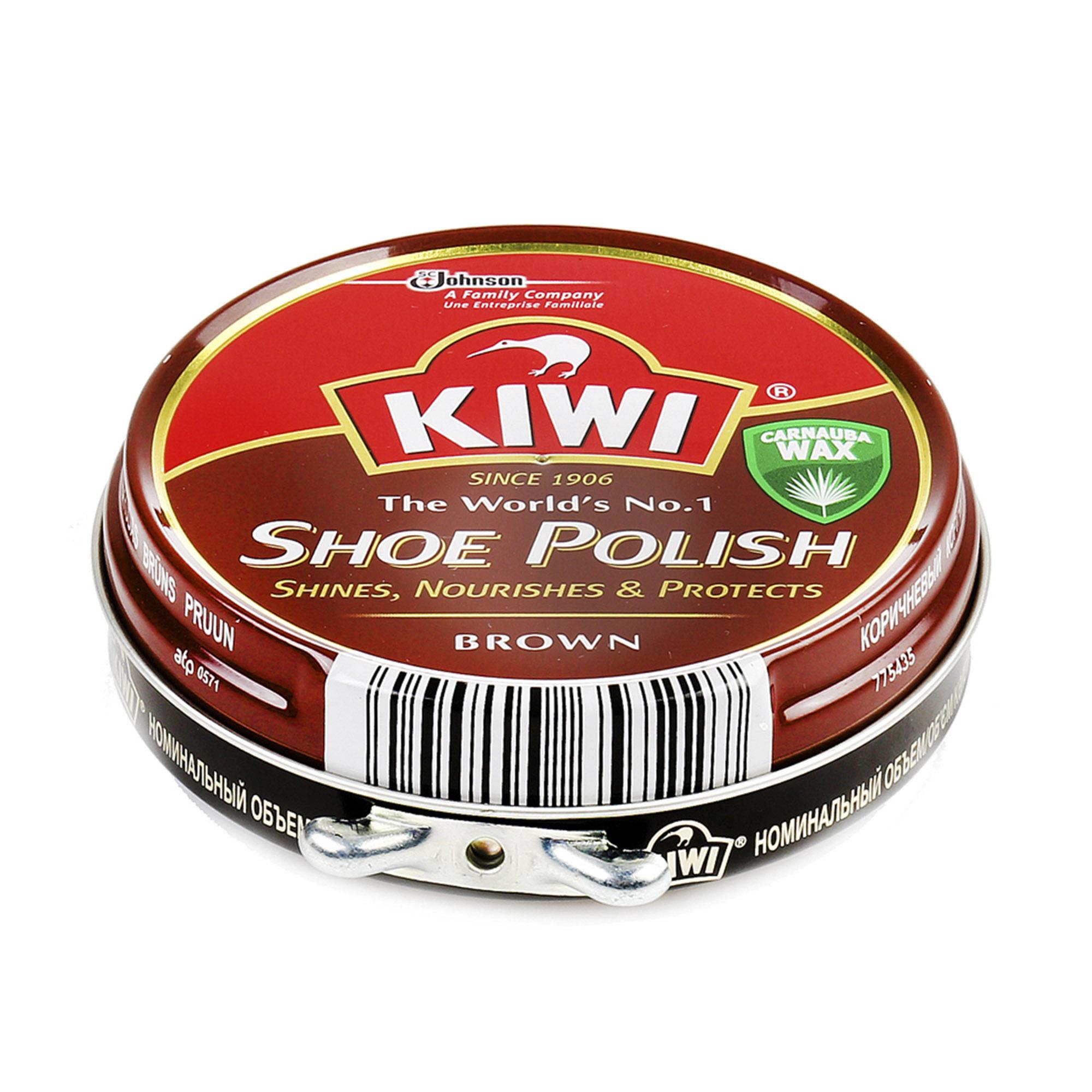 Крем для обуви Kiwi Shoe Polish коричневый 50 мл