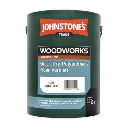 Лак полиуретановый Johnstones Durable Quick Dry Polyurethane Varnish Satin Clear 2,5 л