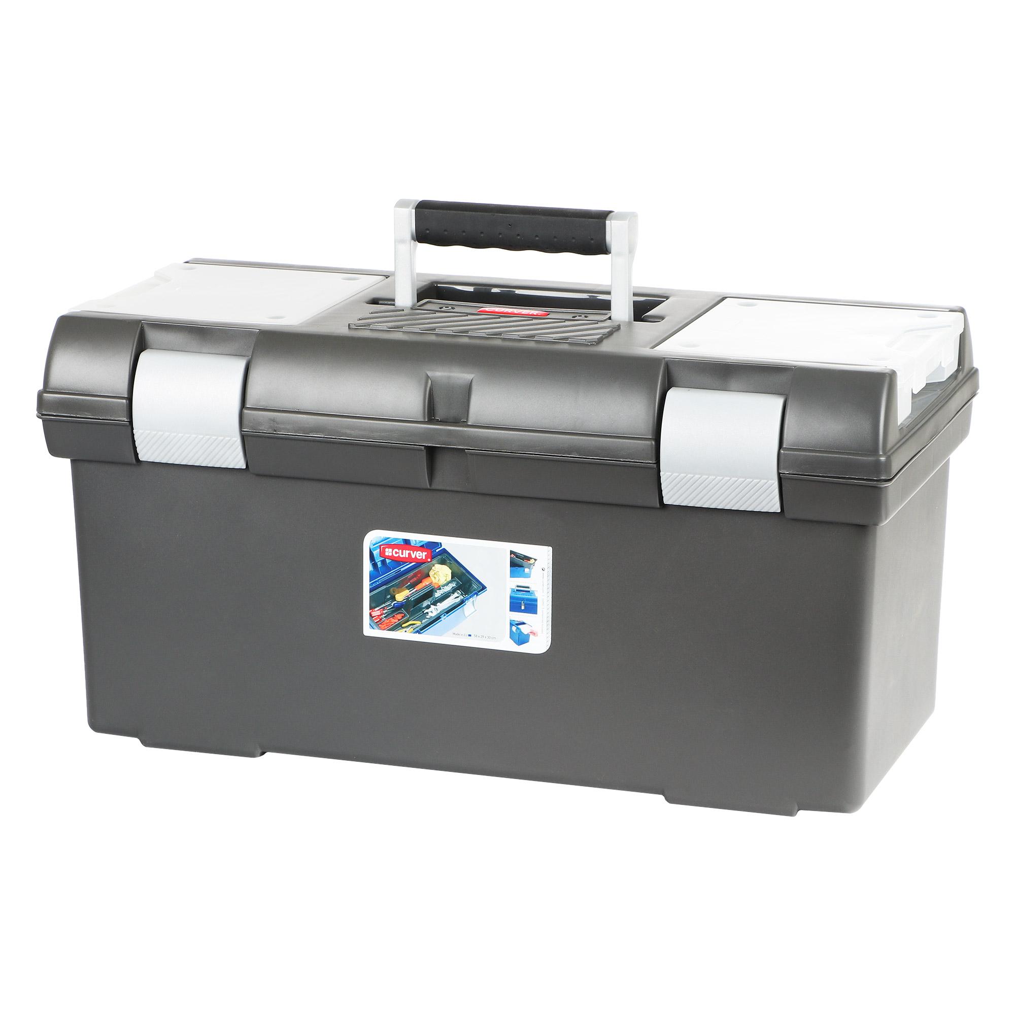 Ящик для инструментов большой Curver черный 58х29х30 см
