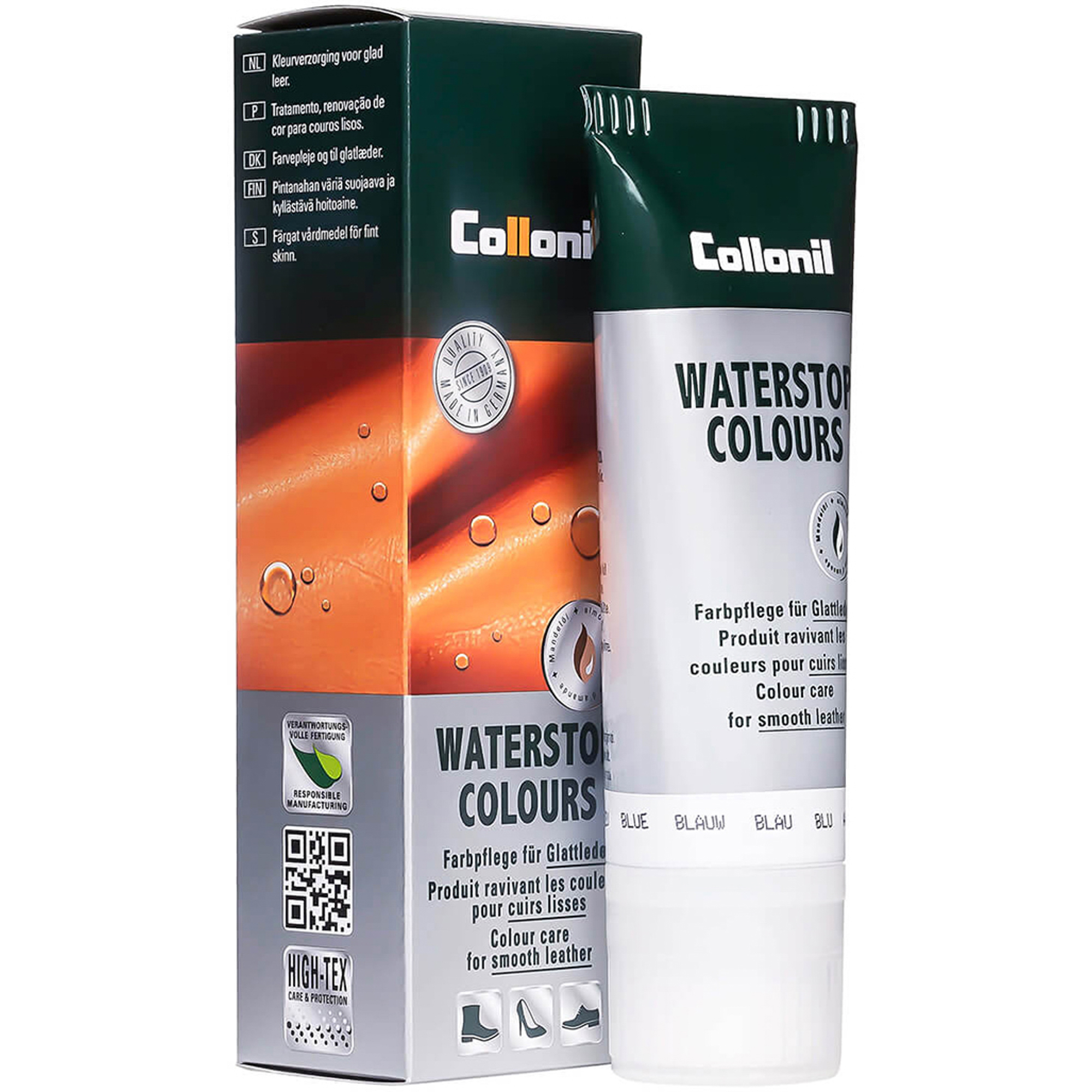 Крем Collonil Waterstop Colours водоотталкивающий синий 75 мл крем collonil colorit tube black