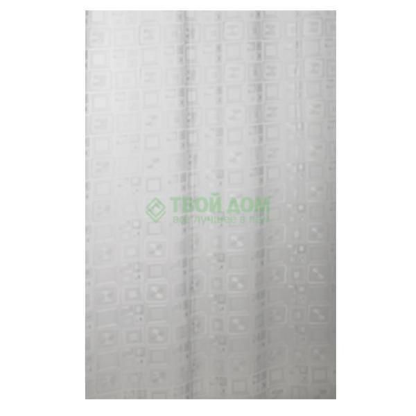 Купить Штора для ванной комнаты Bacchetta Quadro 180x200 см (40100825000), штора для ванной комнаты, Италия, белый, винил