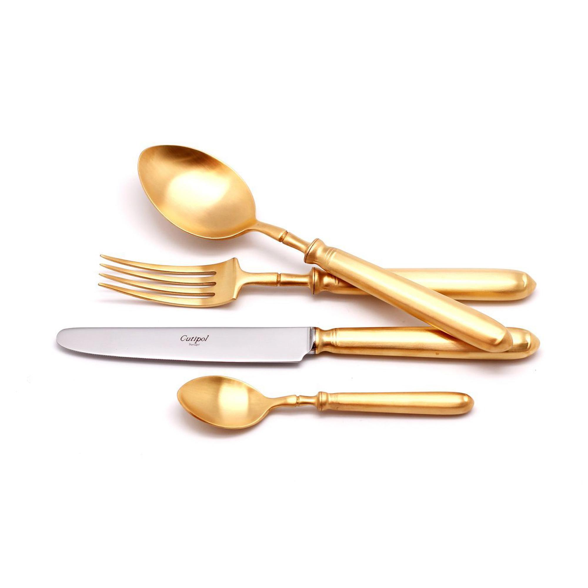 Столовый набор Cutipol MITHOS GOLD 9152-72 Gold набор столовых приборов cutipol fontainebleau gold из 72 х предметов 9162 72