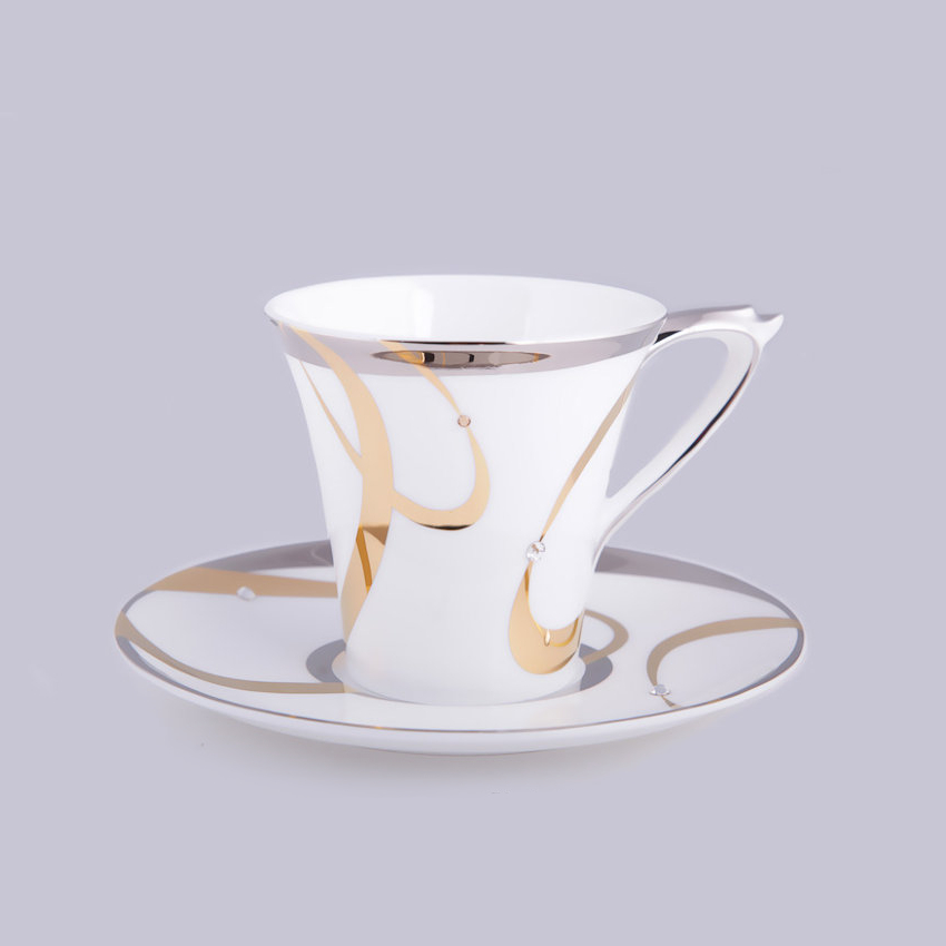 Фото - Набор чайный пар Hankook/Prouna Аврора с кристаллами Swarovski 250 мл 2 шт чайный сервиз hankook prouna блэк палас с кристаллами swarovski 22 предмета