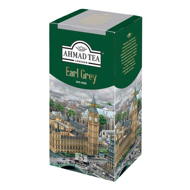 Чай Ahmad Tea Earl Grey черный 25 пакетиков чай ahmad tea ceylon черный 25 пакетиков