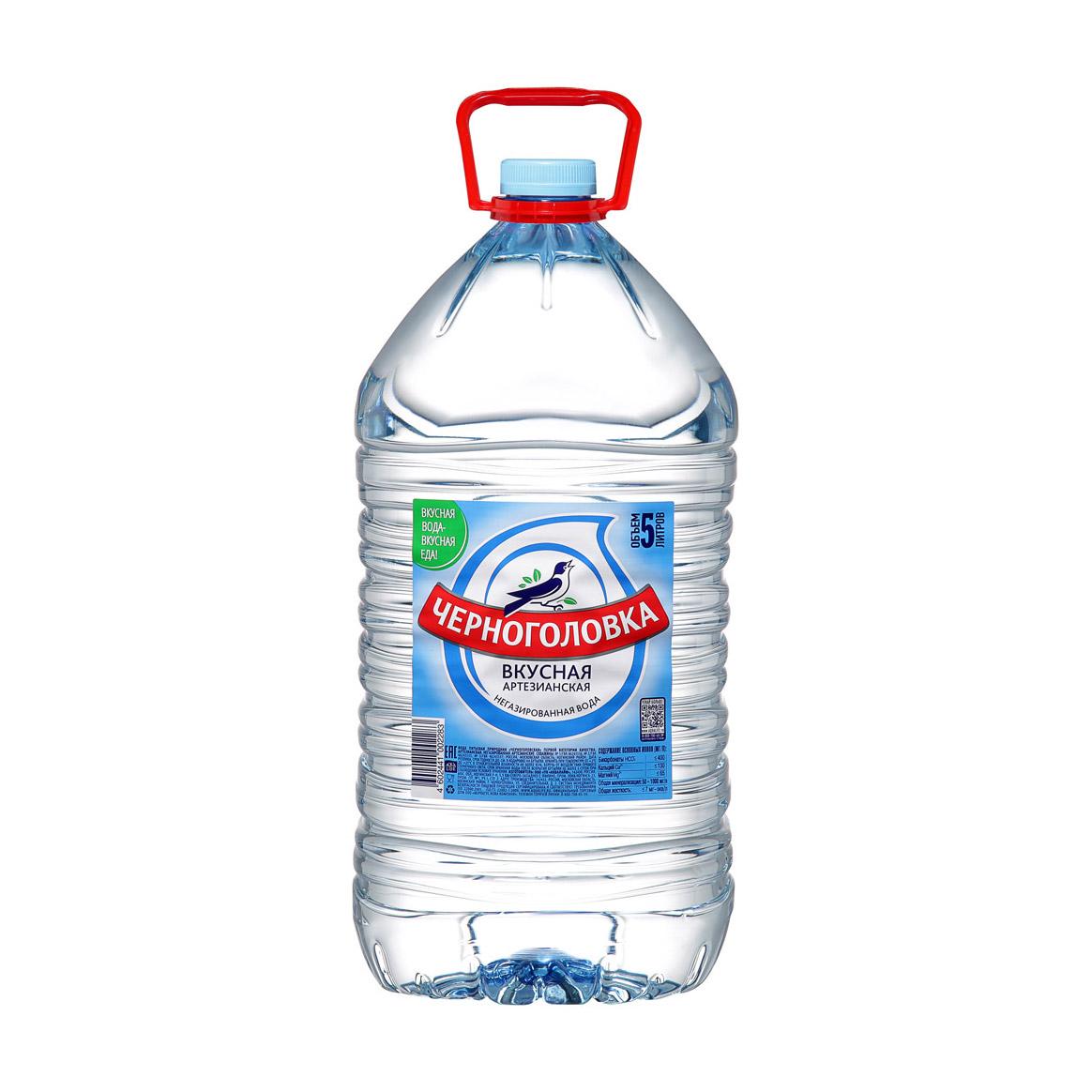 Вода Черноголовка Вкусная питьевая негазированная 5 л вода питьевая малышка 1 5 л