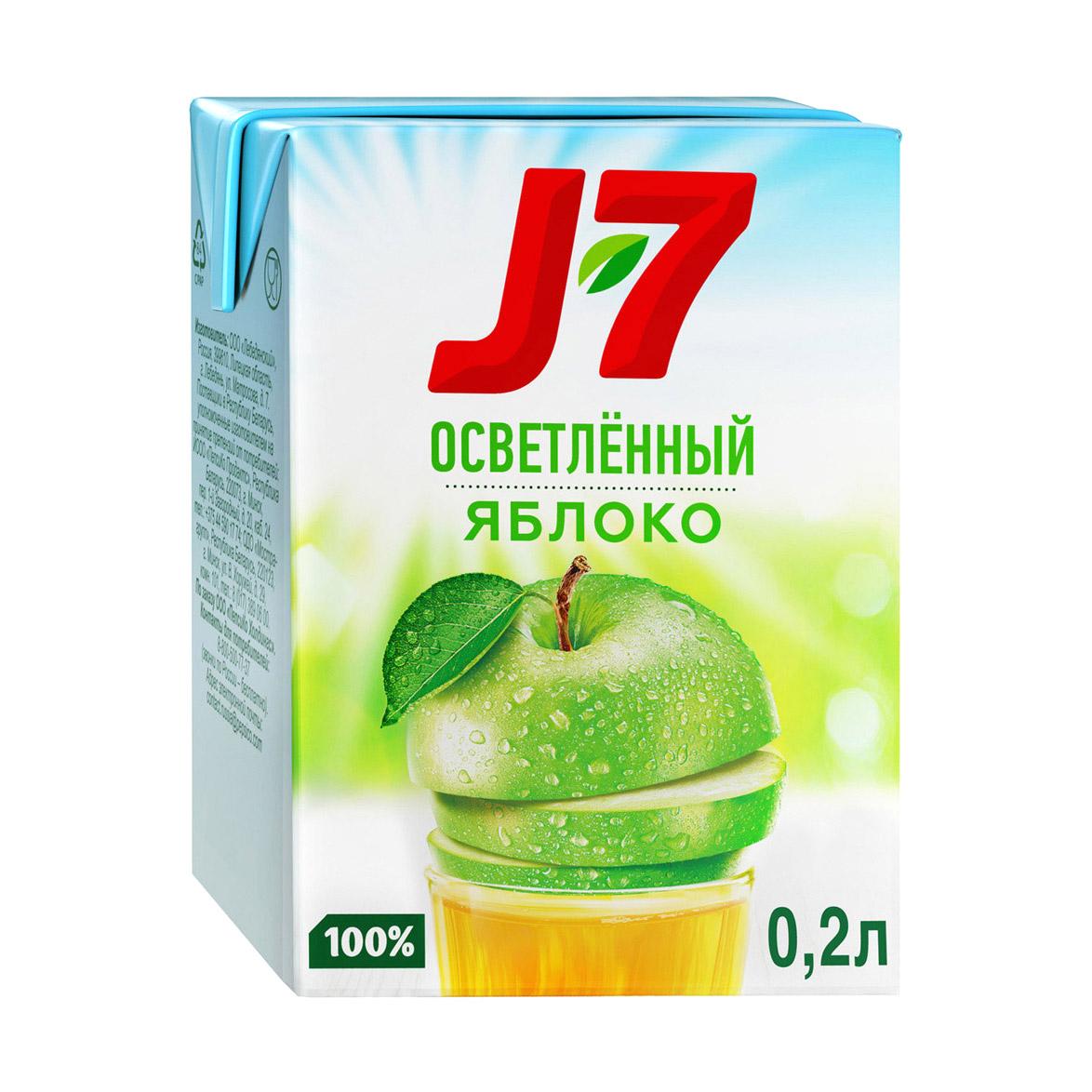 Фото - Сок J7 Яблоко осветленный 200 мл j7
