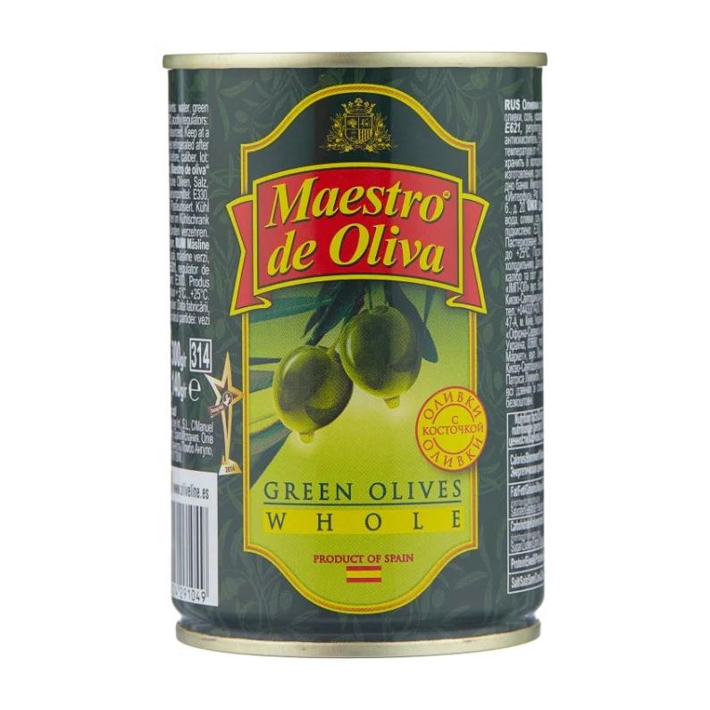 Оливки Maestro de Oliva с косточкой 300 г oliva косметика