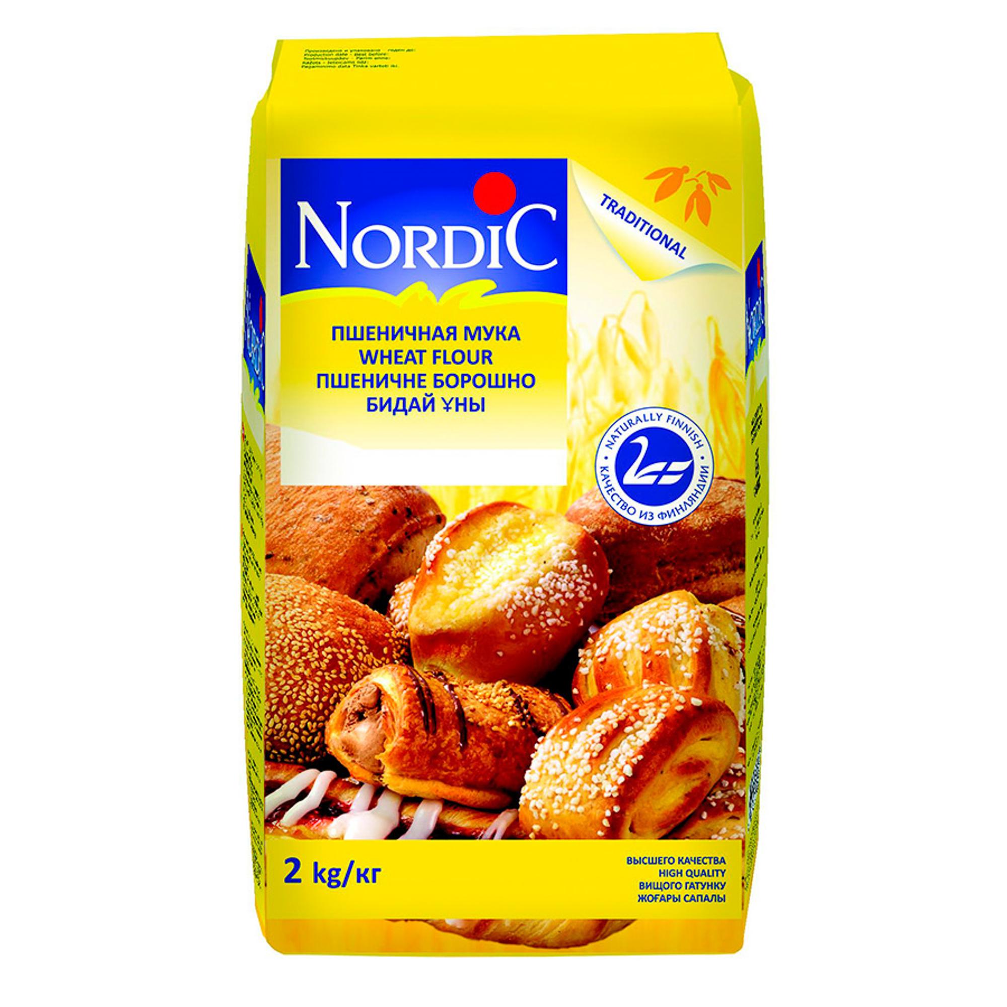 Мука Nordic пшеничная 2 кг