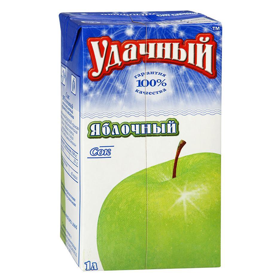 Сок Удачный Яблочный 1 л