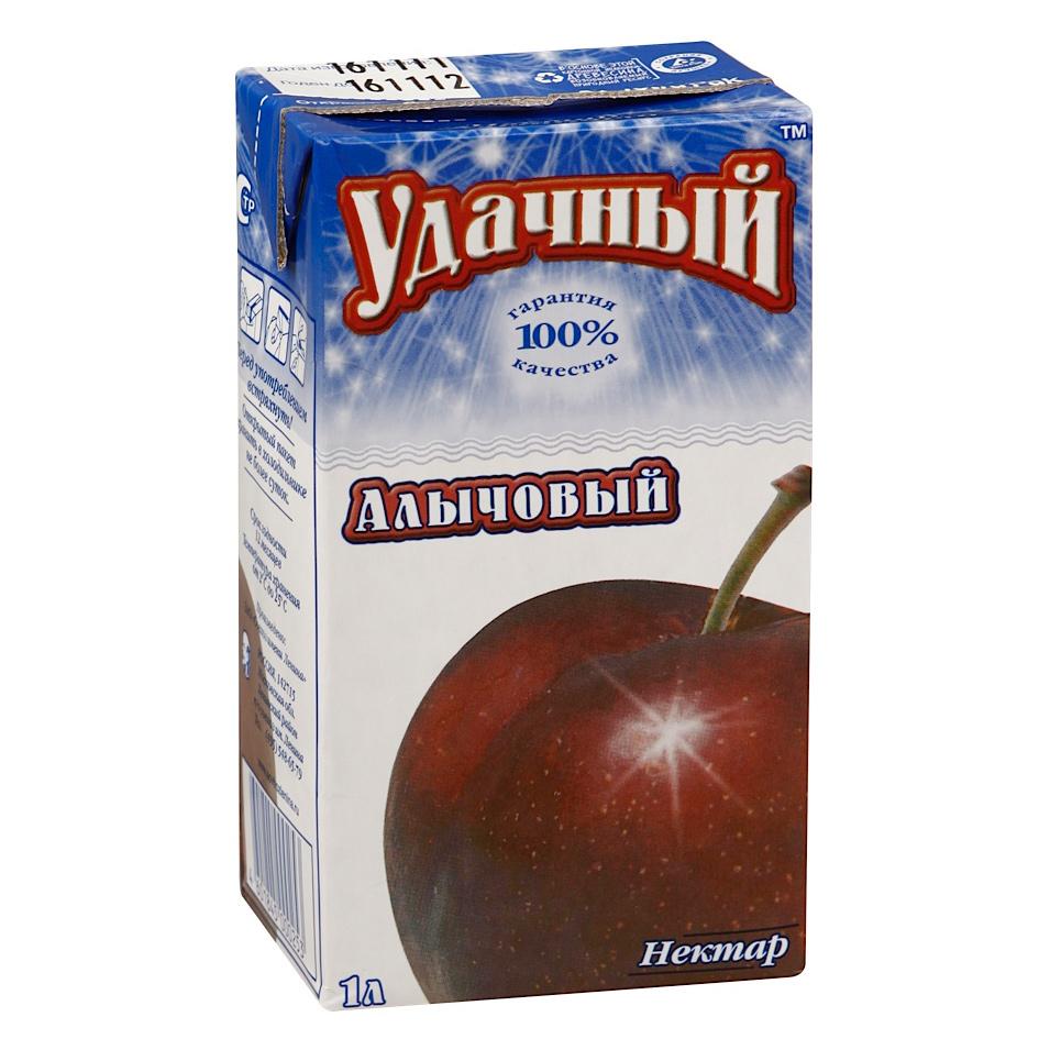 Нектар Удачный Алычовый 1 л нектар удачный яблочно облепиховый неосветленный 1 л