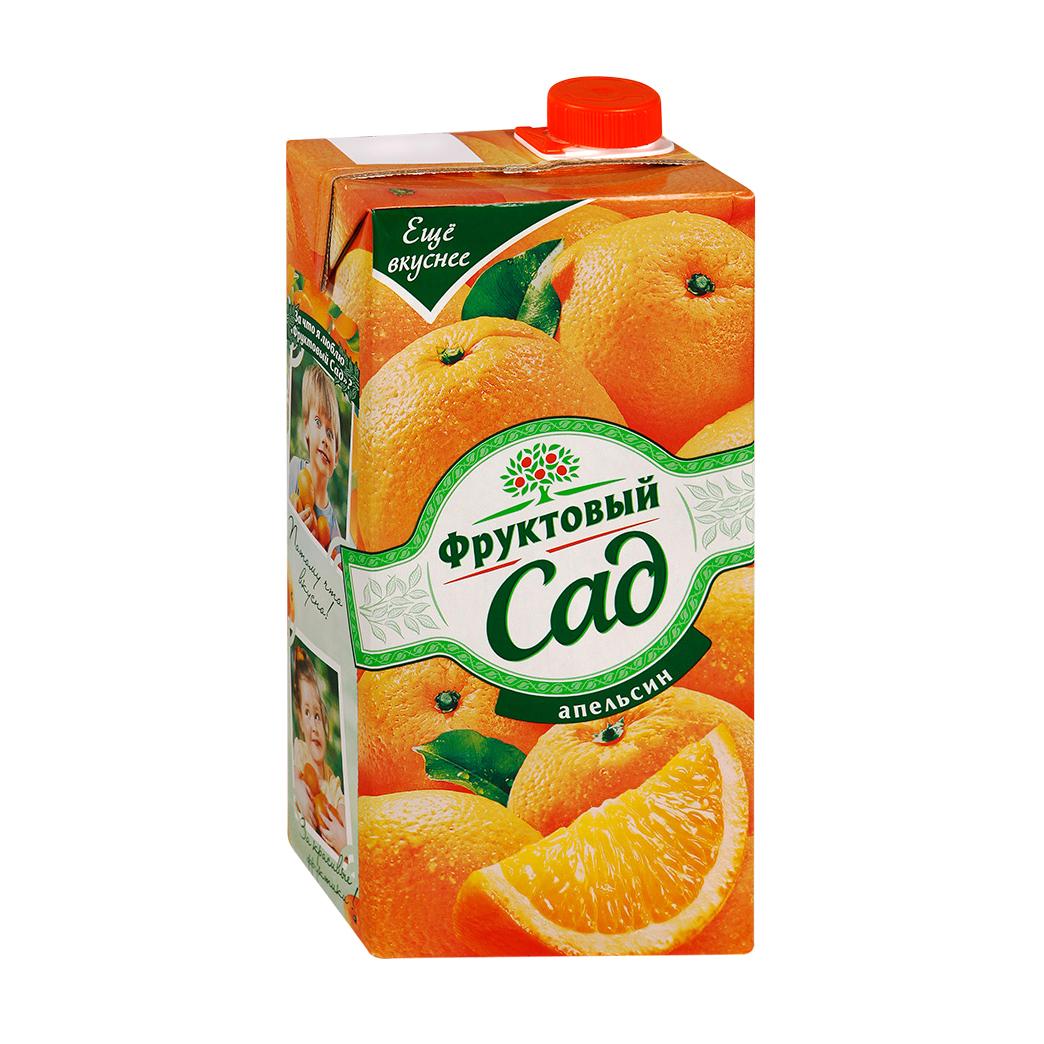Нектар Фруктовый сад апельсиновый с мякотью 1,93 л