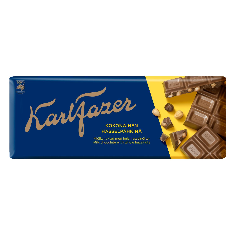 Fazer молочный шоколад c цельным фундуком 190г