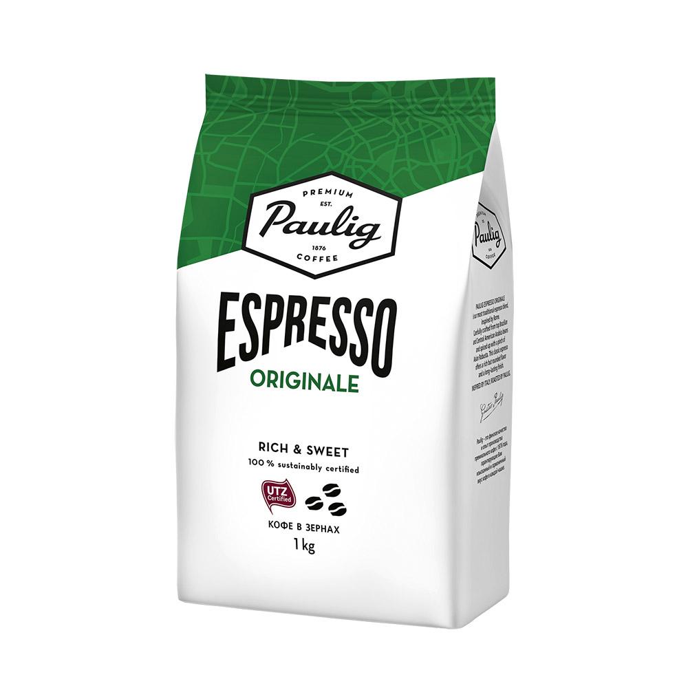 Кофе в зернах Paulig Espresso Originale 1 кг paulig arabica dark кофе в зернах 1 кг