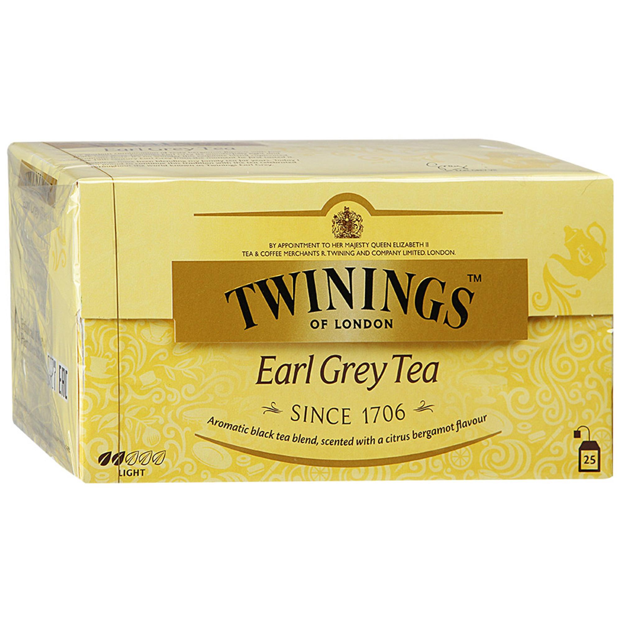 Фото - Чай черный Twinings Earl Grey с ароматом бергамота 25 пакетиков чай черный twinings earl grey 100 г